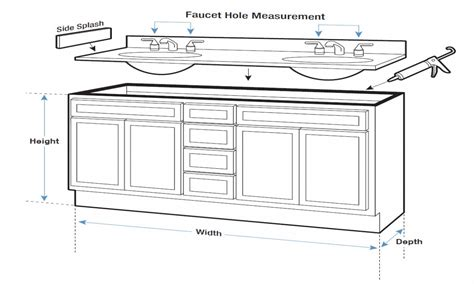 bathroom vanity width bathroom sink dimensions bathroom vanity measurements