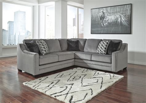 Furniture Sectional by Bicknell Charcoal 2 Pc Sectional Sofa With Left Arm Facing