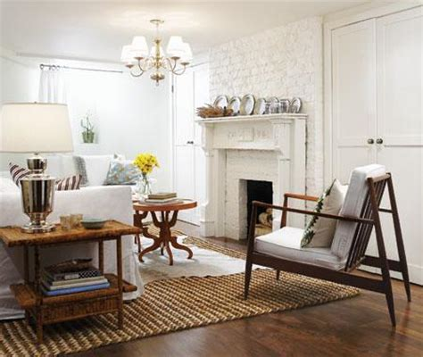Living Room With White Brick Fireplace White Brick Fireplace With Mantle Transitional Living