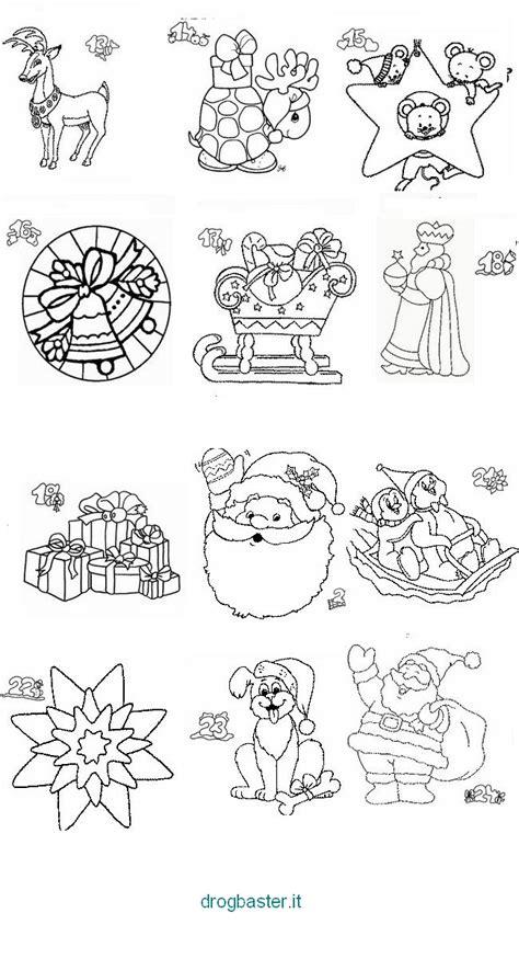 Disegni di Natale da colorare per bambini. Babbo Natale e