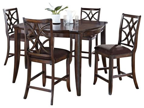 walnut 5 piece counter height dining room set 1549 monarch 5 piece keenan collection walnut finish wood counter