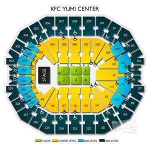 kfc yum center floor plan kfc yum center tickets kfc yum center information kfc yum center seating chart
