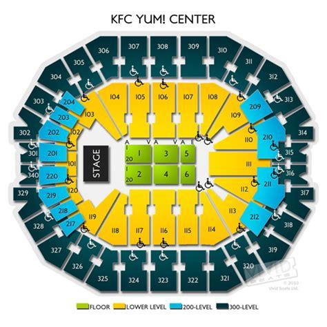 kfc yum center floor plan kfc yum center tickets kfc yum center information