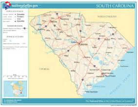 united states geography for south carolina
