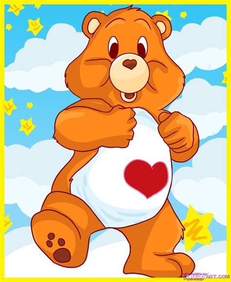 draw care bear tenderheart bear step step characters pop culture free