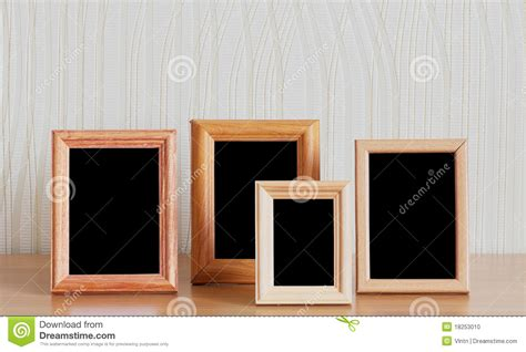 photo frames  table stock photo image  indoors space