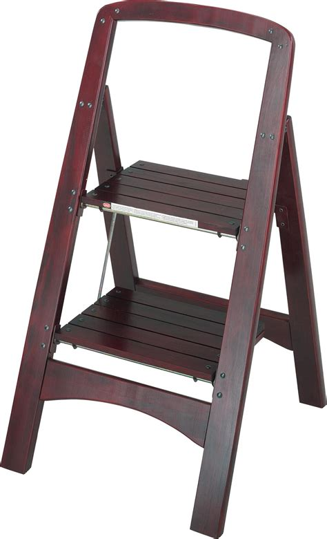2 Step Wooden Step Stool by Cosco Products Cosco Two Step Rockford Wood Step Stool