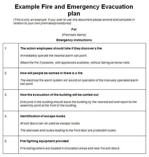 emergency procedures template invitation template
