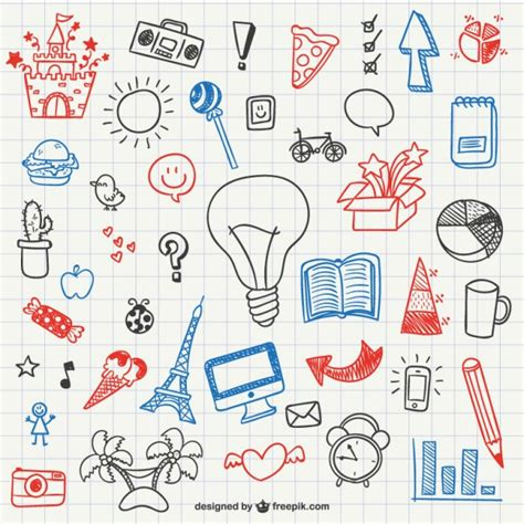how to make easy doodle simple doodles collection vector free