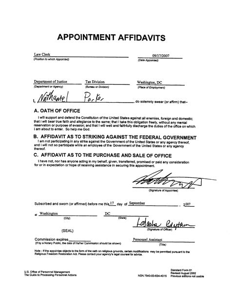 Affidavit Of Support Letter For A Friend Letter Of Affidavit Free Printable Documents