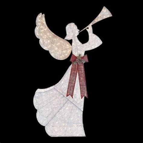 angel decorations for home home accents holiday 8 ft pre lit angel with horn ty503
