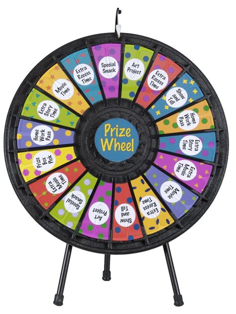Prize Wheel 18 Slot W Noisy Clicker And Printout Slots 12 Slot Prize Wheel Template