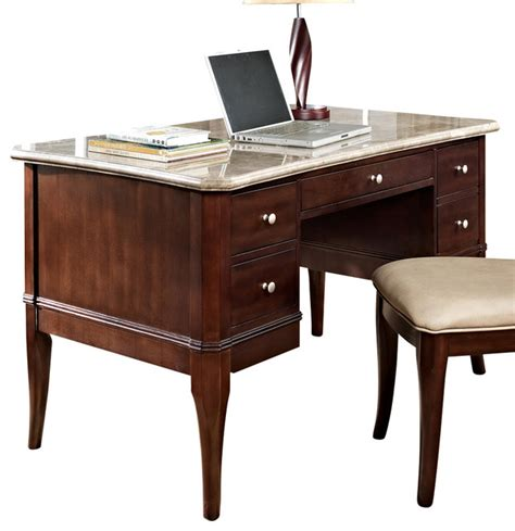 office desk with marble top steve silver marseille marble top writing desk