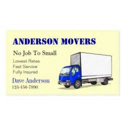 moving business cards mover or moving company sided standard business