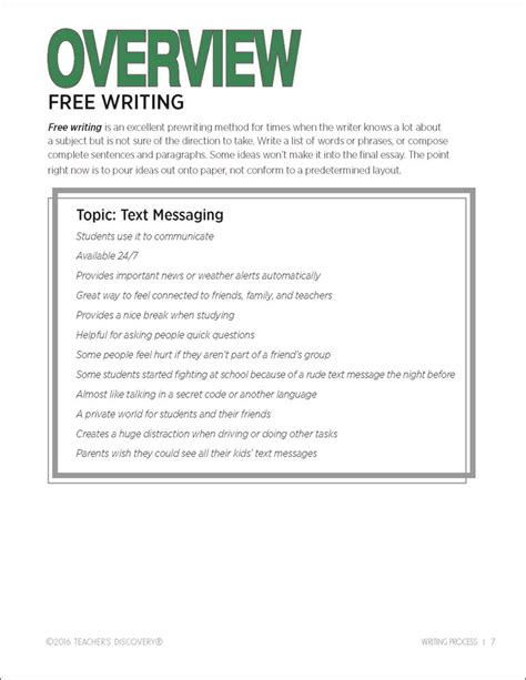 Writing Activity Book writing process activity book s discovery