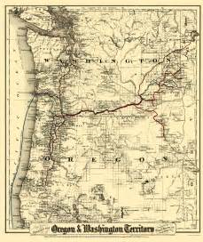 railroad maps oregon and washington territory by