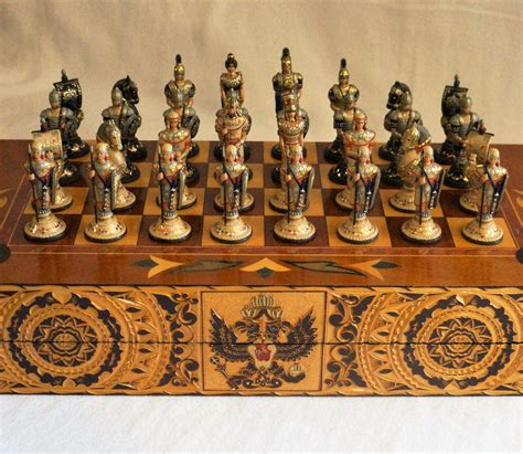 unique chess pieces unique russian chess set by styleofrussia on etsy