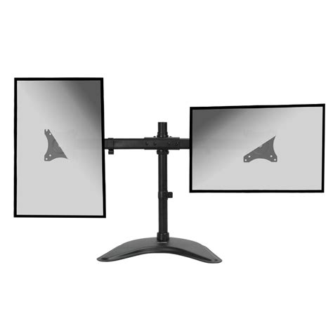 Dual Lcd 2 Monitor Stand Desk Mount Adjustable Curved Free Monitor Desk Stands