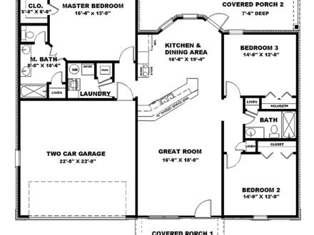 1300 sq ft house plans with basement 1500 square feet 2 bedroom house plans houses under 1500 1300 sq ft house plans with
