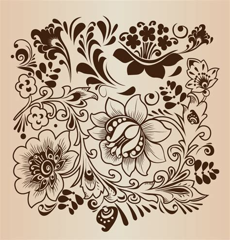 flower pattern vector graphics decorative flower pattern vector illustration free