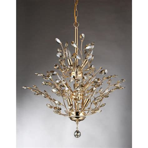 Leaf Chandelier Gisell 13 Light Gold Indoor Leaf Like Chandelier Rl8023 The Home Depot