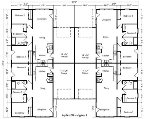 4 unit multi family house plans 17 best images about 3 4 plex on pinterest house plans