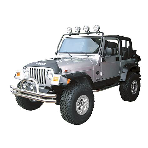 97 Jeep Wrangler Parts Frame Light Bar Black 97 06 Jeep Wrangler Tj Jeep