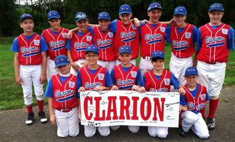 11 12 year old boys all star team includes clarion little league all stars top huntingdon at states