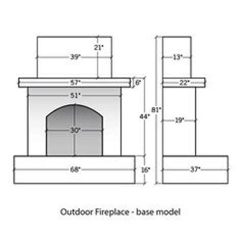 Fireplace Dimensions by Outdoor Gas Fireplace On