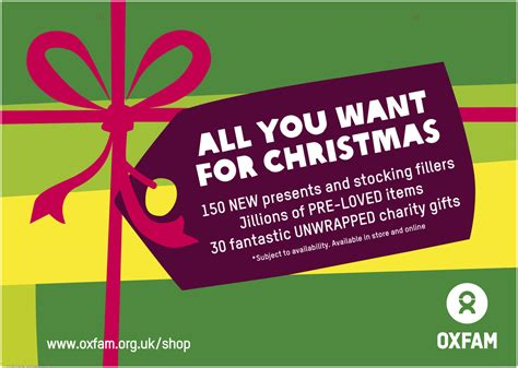 oxfam unwraps christmas caign with live breathe the