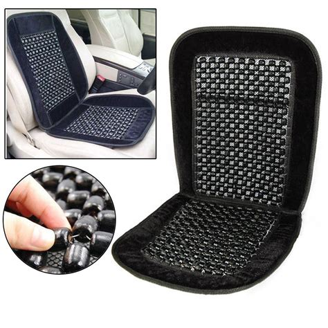bead seats car lorry comfy back black wooden bead beaded