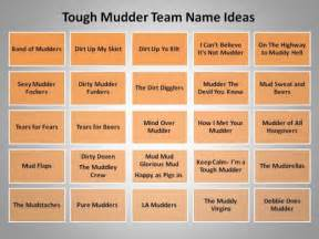 great team name ideas for tough mudder and mud runs hubpages