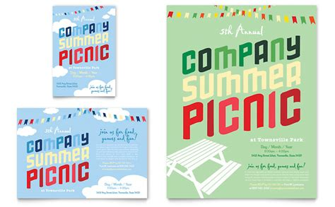Company Summer Picnic Flyer Ad Template Word Publisher Picnic Flyer Template Word