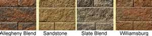 versa lok colors non weathered standard versa lok wallstones