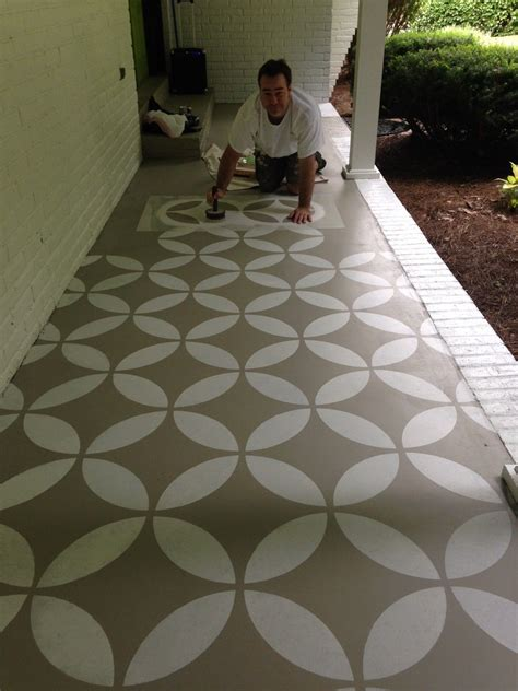 Outdoor Floor Painting Ideas Concrete Patio Floor Paint Ideas Yard Pinterest Floor Painting Concrete Patios And Paint