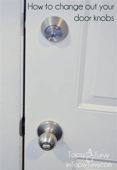 How To Switch Door Knobs how to change out your door knobs ashlee