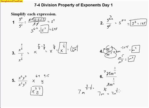 Properties Of Exponents Worksheet Answers by Multiplication Properties Of Exponents Worksheet 7 3