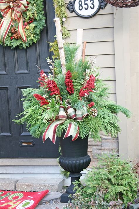Urn Planters Cheap by Outdoor Christmas Decoration Ideas Pinterest