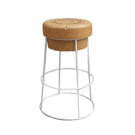Wine Cork Bar Stools by Novelty Chagne Cork Bar Stool With White Steel Legs