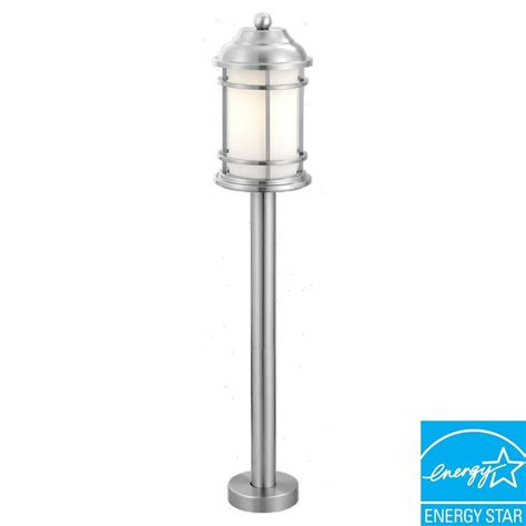 Stainless Steel Outdoor Light Eglo Portici 1 Light Stainless Steel Outdoor Post Light 20641a The Home Depot