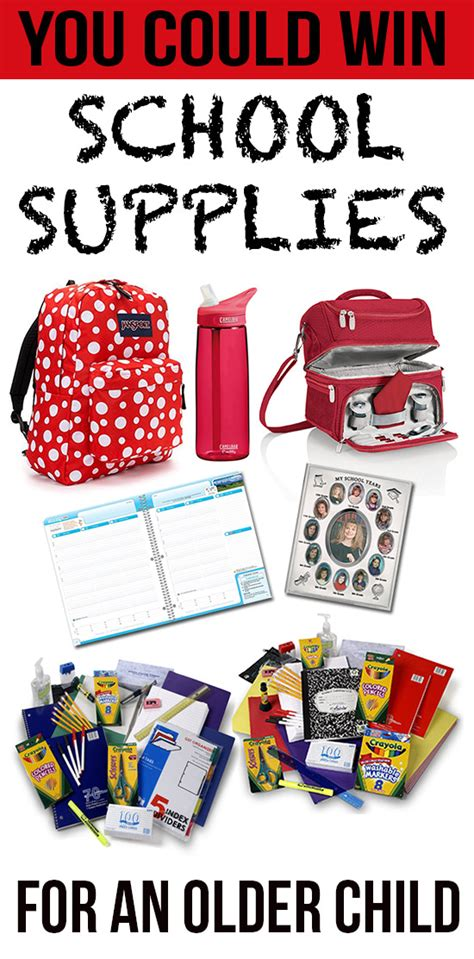 School Supply Giveaway - the ultimate back to school giveaway