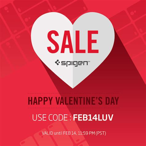 valentines day cheap spigen promo code launched for s day shopping on