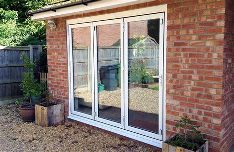 convert garrage door to windows garage conversion with sliding doors in wreningham norfolk