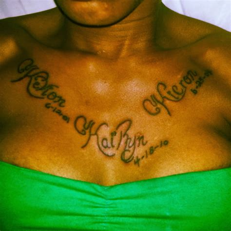 tattoo names on chest name images designs
