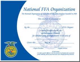 ffa certificate template paper certificates
