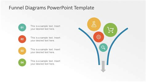 funnel diagram powerpoint template image and bullet list layout funnel powerpoint slidemodel