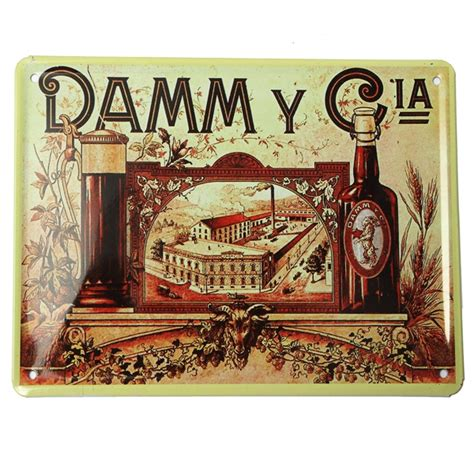 damm cia tin sign vintage metal plaque poster bar pub home