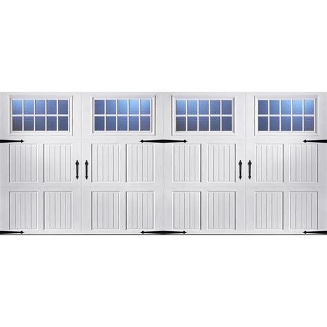16 X 7 Insulated Garage Door by Shop Pella Carriage House Series 16 Ft X 7 Ft Insulated