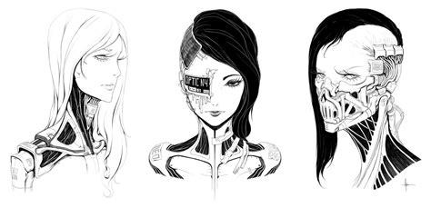Drawing Ideas by Female Faces 001 By Adriandadich On Deviantart