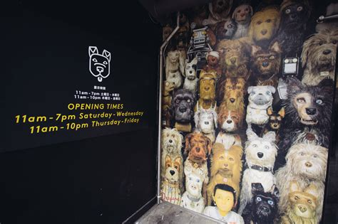 wes isle of dogs pup into wes s isle of dogs exhibition tea was here
